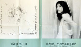 Robert Mapplethorpe, Robert Mapplethorpe Patti Smith 1978 exhibition poster