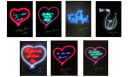 Tracey Emin, Set of Seven Neon Prints
