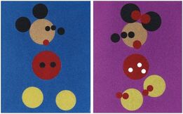 Damien Hirst, Mickey and Minnie (Large)