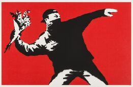 Banksy, Love is in the Air (Flower Thrower)
