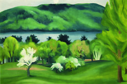 Georgia O'Keeffe, Lake George by Early Moonrise