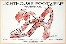Andy Warhol, Andy Warhol Lighthouse Footwear Poster 1979