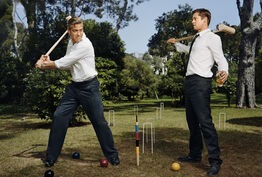 Martin Schoeller, George Clooney and Brad Pitt