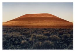 James Turrell, First 4 x 5 Photograph of Roden Crater