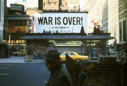 Yoko Ono, War is Over!