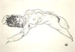 Egon Schiele, Lying Female Nude