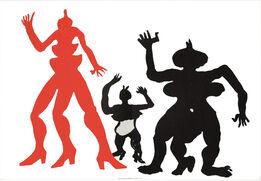 Alexander Calder, Three Acrobats from Derrière le Miroir