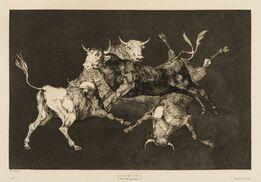 Francisco de Goya, Al Toro y al Aire Darles Calle (Lluvia de Toros), from 'Los Proverbios'