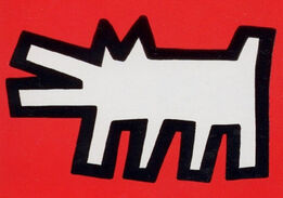 Keith Haring, Barking Dog from Icons