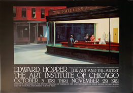 Edward Hopper, Nighthawks, Edward Hopper, The Art and the Artist-REDUCED $650
