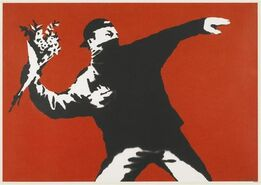 Banksy, Love is in The Air (unsigned)