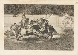 Francisco de Goya, El Esforzado Rendon Picando un Toro, de Cuya Suerte Murio en la Plaza de Madrid