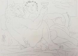 Pablo Picasso, Minotaure, une Coupe à la Main, et Jeune Femme (Minotaur, a Cup in Hand, and Young Woman)