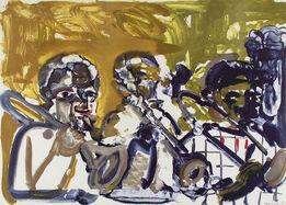 Romare Bearden, Brass Section (Jamming at Minton's)