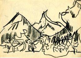 Ernst Ludwig Kirchner, Berglandschaft (Mountain Landscape)