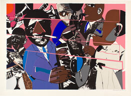 Romare Bearden, Jazz II, Artist Proof