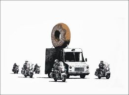 Banksy, Donuts (Chocolate)