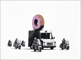 Banksy, Donut (Strawberry)
