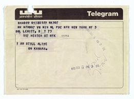 On Kawara, Telegram to Sol LeWitt