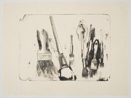 Jim Dine, Brushes Drawn on Stones #2
