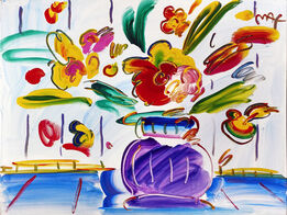 Peter Max, VASE OF FLOWERS SERIES 80 VER. III #1