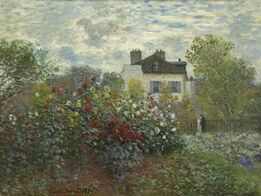 Claude Monet, The Artist's Garden in Argenteuil (A Corner of the Garden with Dahlias)