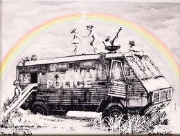 Banksy, Police Riot Van (Dismaland Gift Print)