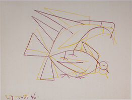Pablo Picasso, 'Les Deux Tourterelles Doubles (The Two Double Turtle Doves), 1949 Limited edition Lithogrph by Pablo Picasso', 1949