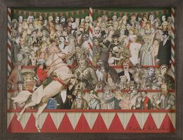 Peter Blake, Circus Collage Left