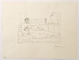 Pablo Picasso, 'Vieux Sculpteur et Jeune Modèle avec le Portrait sculpté du Modèle (S.V. 63)', 1933