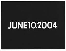 On Kawara, JUNE 10, 2004 (from Today series, 1966-2013)