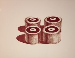 Wayne Thiebaud, 'Cherry Cakes (Recent Etchings II)', 1979