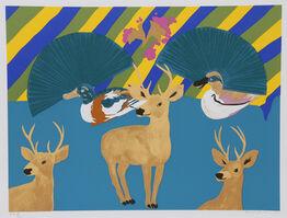 Hunt Slonem, 'Three Deer', 1980