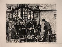 Käthe Kollwitz, 'Untitled [Weaver's Revolt (Sturmaus Ein Weberaufstand)]'