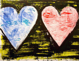 Jim Dine, Two Hearts at Sunset
