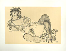 Egon Schiele, Reclining Woman