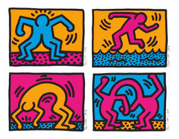 Keith Haring, Pop Shop II  Complete Portfolio (four pieces)