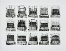 Bernd and Hilla Becher, Gasbehälter (Gas Tanks), image VII, from Typologies series