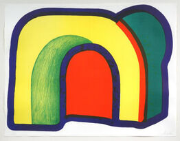 Howard Hodgkin, COMPOSITION WITH RED (ARCH) (HEENK 10)
