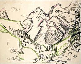 Ernst Ludwig Kirchner, Berglandschaft (Sertigtal) (Mountain Landscape)