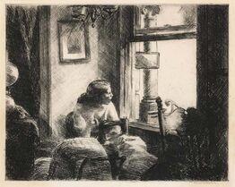 Edward Hopper, EAST SIDE INTERIOR (ZIGROSSER 8; LEVIN 85)