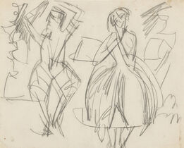 Ernst Ludwig Kirchner, Man and Woman Dancing