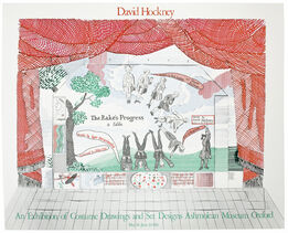 David Hockney, Ashmolean Museum 1981, Rake's Progress