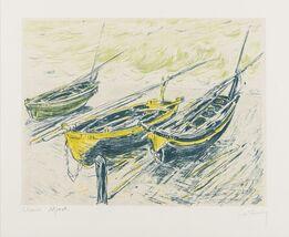 Claude Monet, Trois Barques sur la Grève (Lugt 225d)