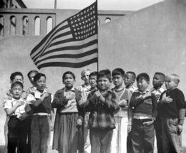 Dorothea Lange, Pledge of Allegiance, San Francisco