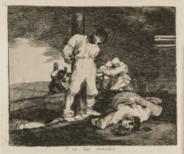 Francisco de Goya, And there's no help for it (The Disasters of War, 15)