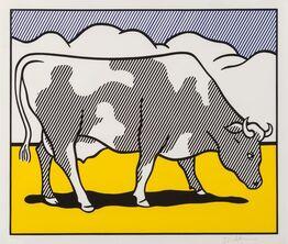 Roy Lichtenstein, Cow Triptych: Cow Going Abstract