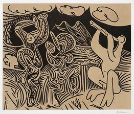 Pablo Picasso, Danseurs et musicien (Dancers and musician), 1959