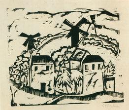Ernst Ludwig Kirchner, Landschaft mit Windmühlen (Landscape with Windmills)