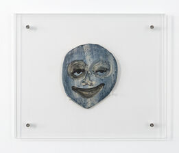 February James, Untitled Face (Blue)